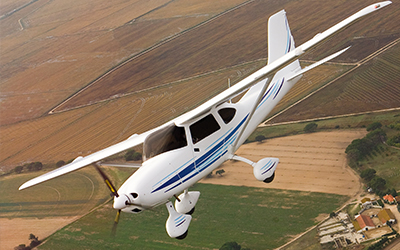 Cirrus Aircraft in flight